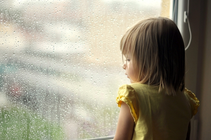Keep away from windows and other openings to outside during stormy weather.